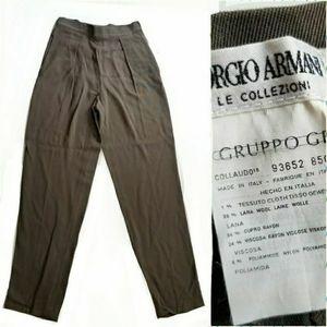 Authentic Armani women's Suit Pants 8 grey neutral
